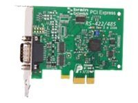 Brainboxes 1-port DB9 Serial PCIe 1XRS422 485 1MB Low Profile Serial Controller