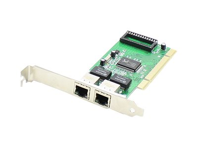 ACP-EP 1Gbps 2-port RJ-45 NIC 32-bit Controller 2xRJ-45 Network Adapter, ADD-PCI-2RJ45