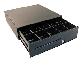 APG Series 100 Cash Drawer 16 x 16 with Media Slots and SerialPro II Interface, T484A-BL1616, 432346, Cash Drawers