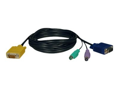 Tripp Lite 3-in-1 PS 2 Cable Kit for 8-Port Console and 16-Port KVM Switches, 6ft, P774-006, 444404, Cables