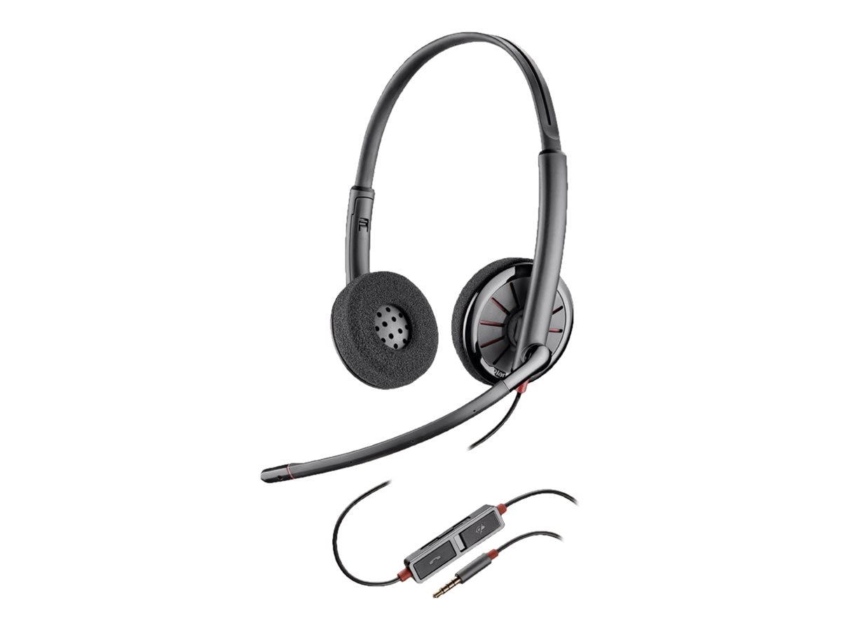 Plantronics BlackWire 225 Stereo Headset, 205204-12