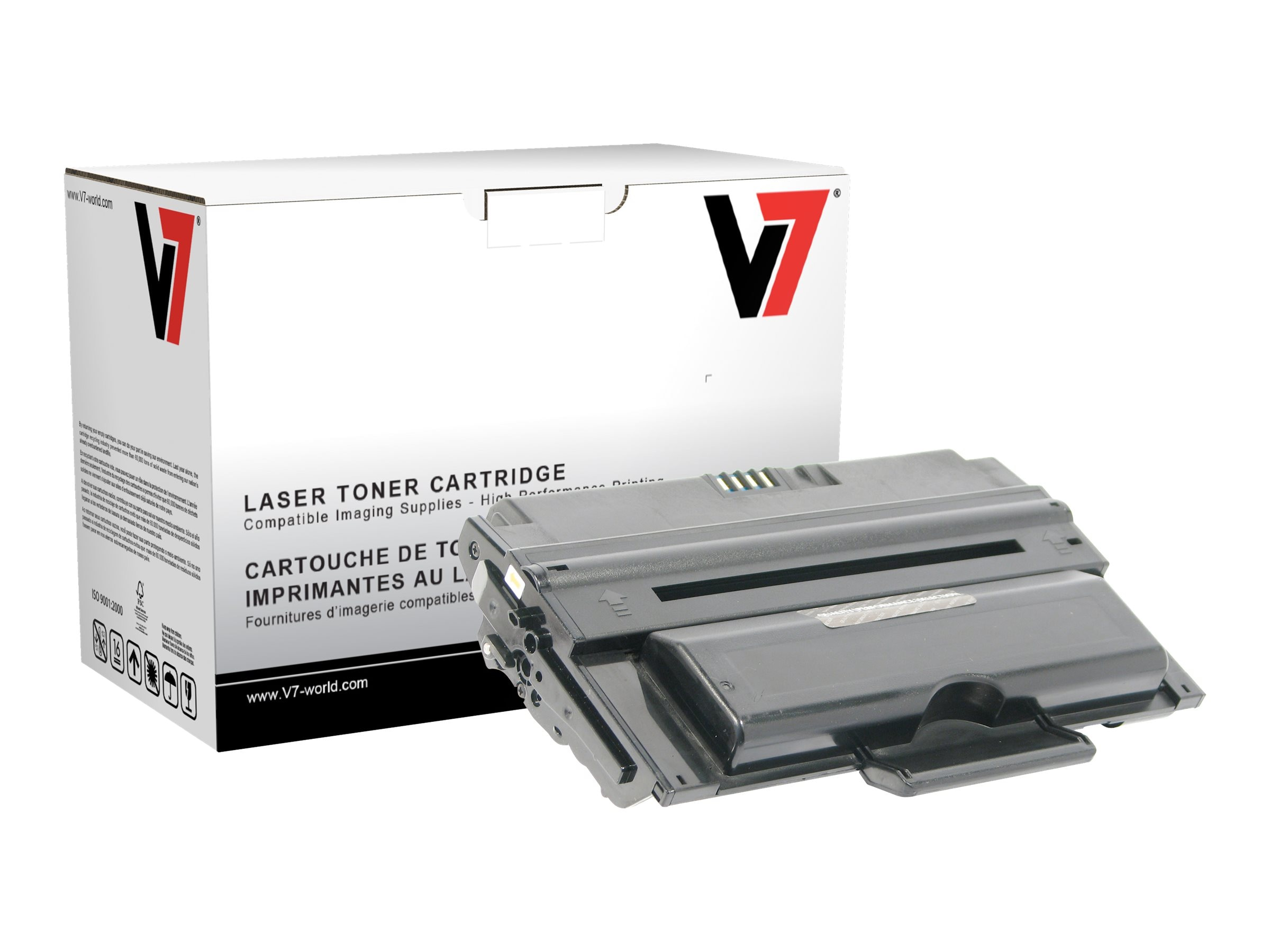V7 330-2209 Black High Yield Toner Cartridge for Dell 2335dn Printer (TAA Compliant)