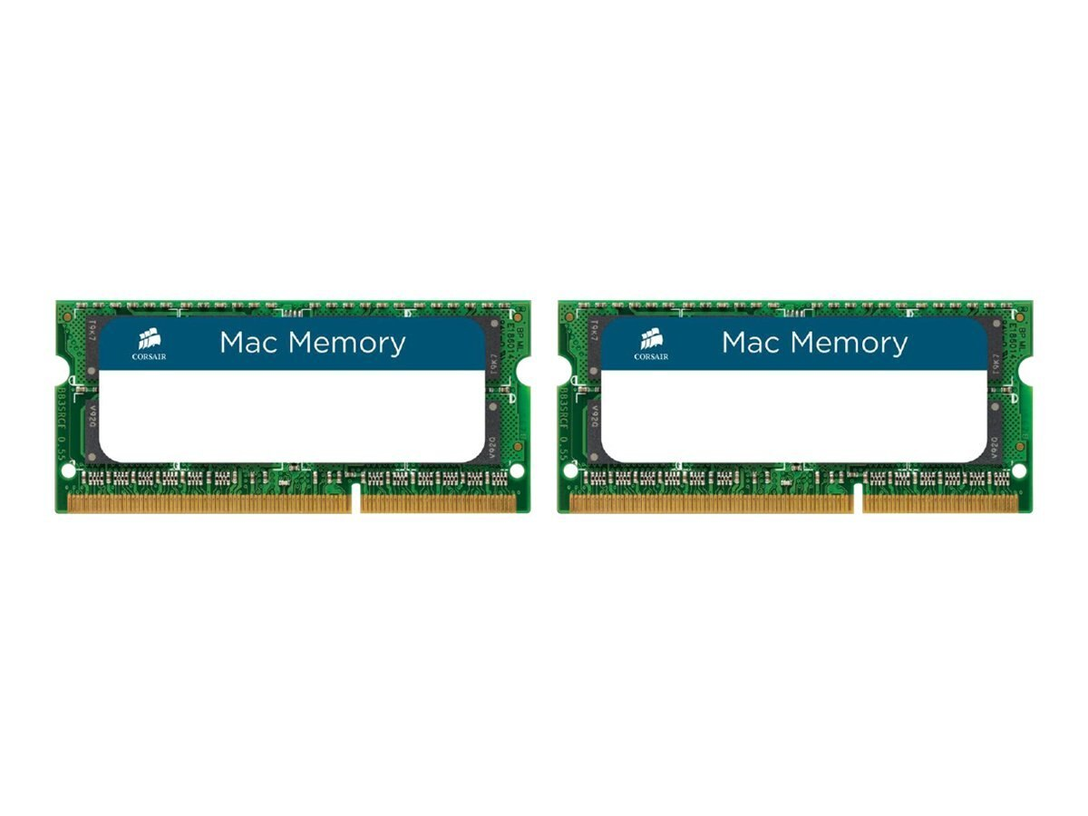 Corsair 8GB PC3-10600 204-pin DDR3 SDRAM SODIMM Kit for iMac, MacBook, CMSA8GX3M2A1333C9, 13170842, Memory