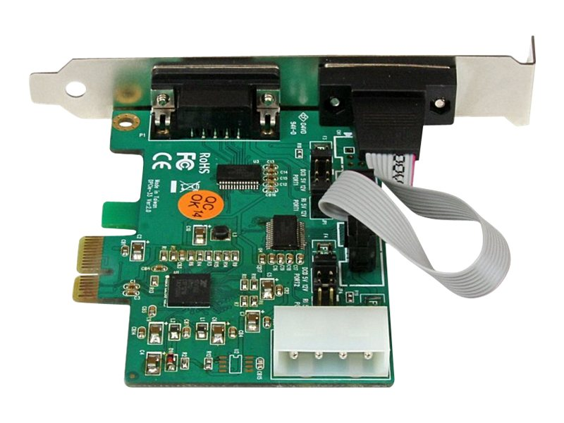 StarTech.com 2-Port Industrial PCI Express (PCIe) RS232 Serial Card w  Power Output and ESD Protection, PEX2S553S