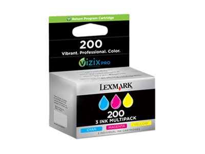 Lexmark Color #200 Ink Cartridges (Tri-Pack), 14L0268