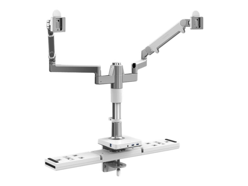 Humanscale M Connect MFlex Dual-Monitor Mount, Aluminum White