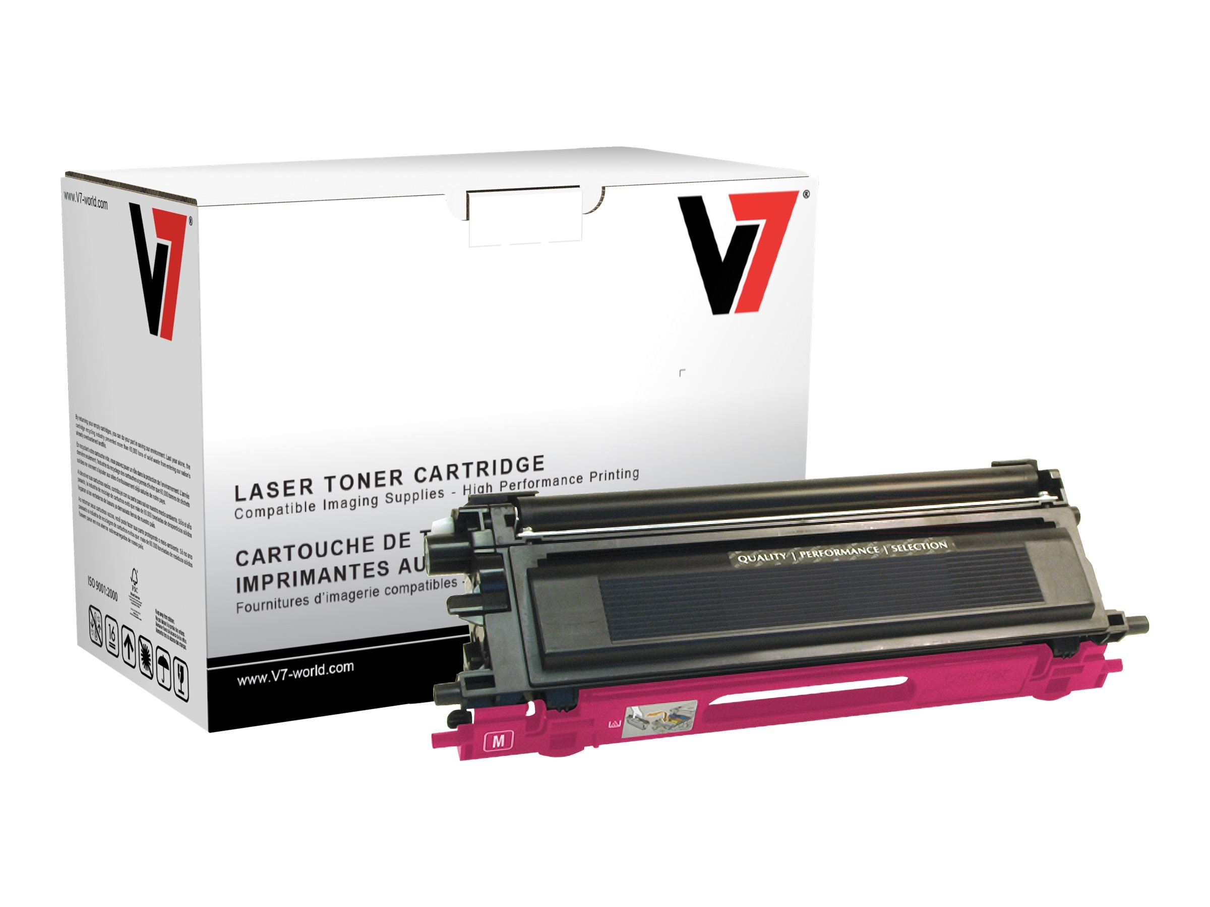 V7 TN115M Magenta High Yield Toner Cartridge for Brother HL-4040 (TAA Compliant)