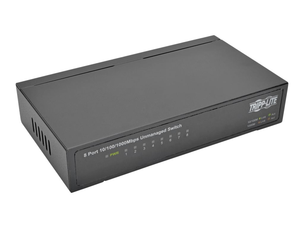 Tripp Lite 8-Port Gb Metal Desktop Switch