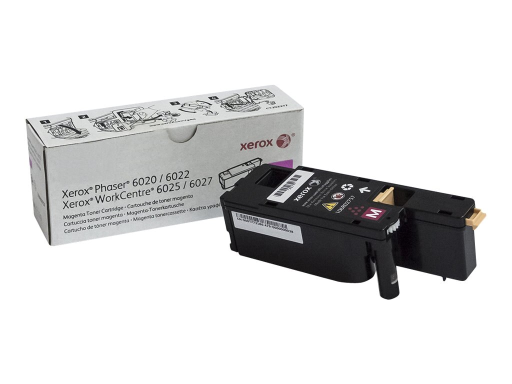 Xerox Magenta Toner Cartridge for Phaser 6022 & WorkCentre 6027, 106R02757, 18441891, Toner and Imaging Components