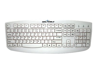 Seal Shield Silver Storm Keyboard Medical Grade USB, White, STWK503, 10930501, Keyboards & Keypads