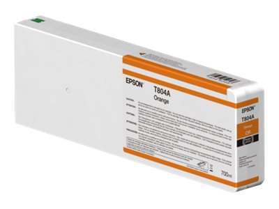 Epson Orange Ultrachrome HDX 700ml Ink Cartridge for SureColor 7000 & 9000 Printer, T804A00, 30741002, Ink Cartridges & Ink Refill Kits
