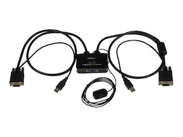 StarTech.com 2-Port USB VGA Cable KVM Switch USB Powered w  Remote Switch, SV211USB, 17987841, KVM Switches