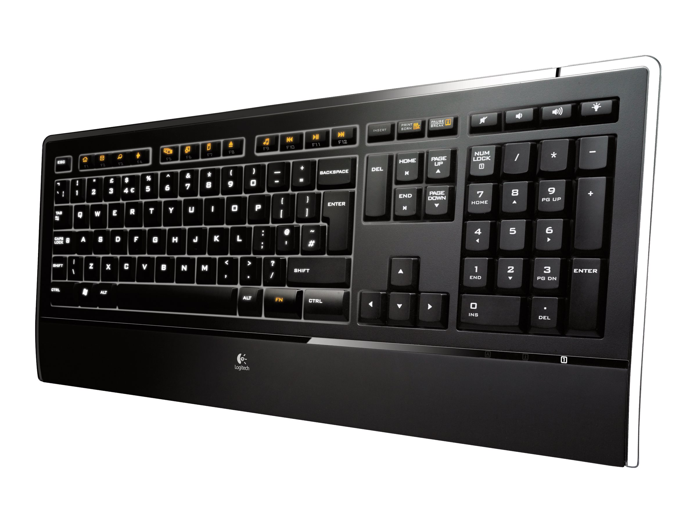 Logitech Illuminated Keyboard K740, USB, 920-000914, 9064861, Keyboards & Keypads