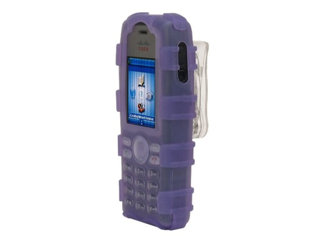 Zcover Silicone Ruggedized Dock-in-Case for Cisco 7925G 7925G-EX, Purple, CI925HPL, 16579803, Carrying Cases - Phones/PDAs