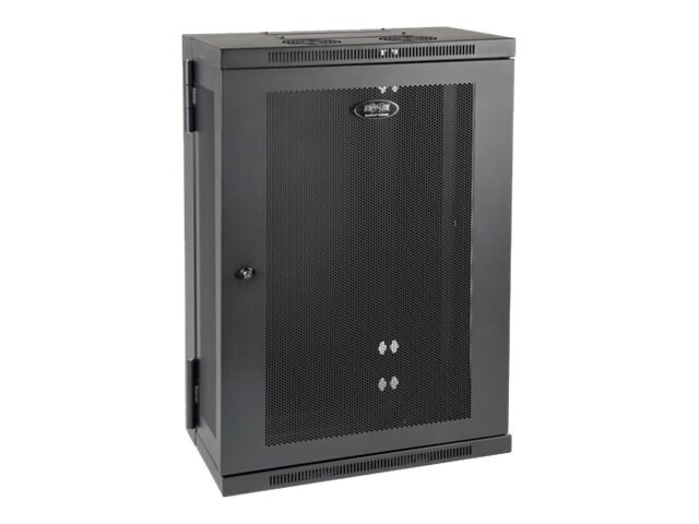 Tripp Lite SmartRack Slim 18U Swinging Wall-Mount Rack Enclosure Cabinet, SRW18US13