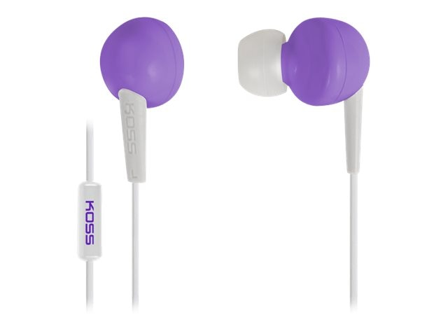Koss Earbud In Ear Bud - Violet, 186602, 16779784, Headphones