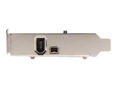 StarTech.com Low Profile 2 Port IEEE FireWire PCI Card with Digital Video Editing Kit, PCI1394_2LP