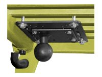 Ram Mounts Forklift Overhead Guard Plate with 4.75 Square VESA Plate and 2.25 Ball