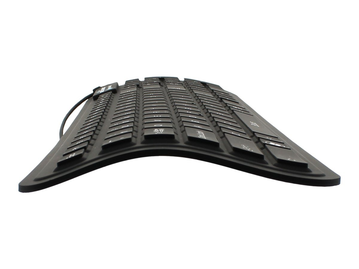Seal Shield Seal Flex Washable Keyboard, Silicone Rubber, Flexible, Superior Tactile, SSF106