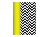 Griffin Zig Zag Folio Case for iPad mini, Citron Black White