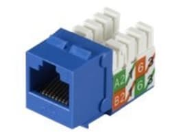 Black Box GigaTrue2 UTP Cat6 Jack, Blue, FMT630-R3, 15314686, Premise Wiring Equipment