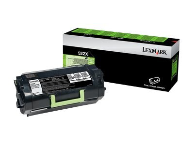 Lexmark 520XA Black Extra High Yield Toner Cartridge, 52D0XA0, 14909012, Toner and Imaging Components