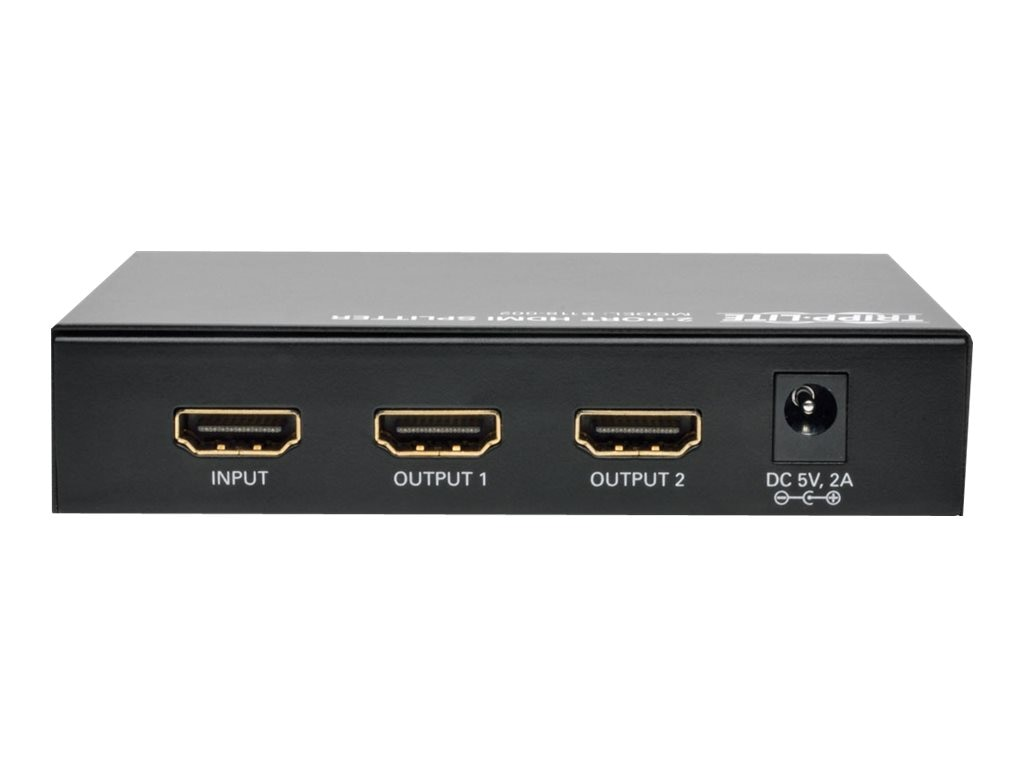 Tripp Lite 2-Port High Speed HDMI Splitter for Video with Audio, HDMI F 2xF, B118-002
