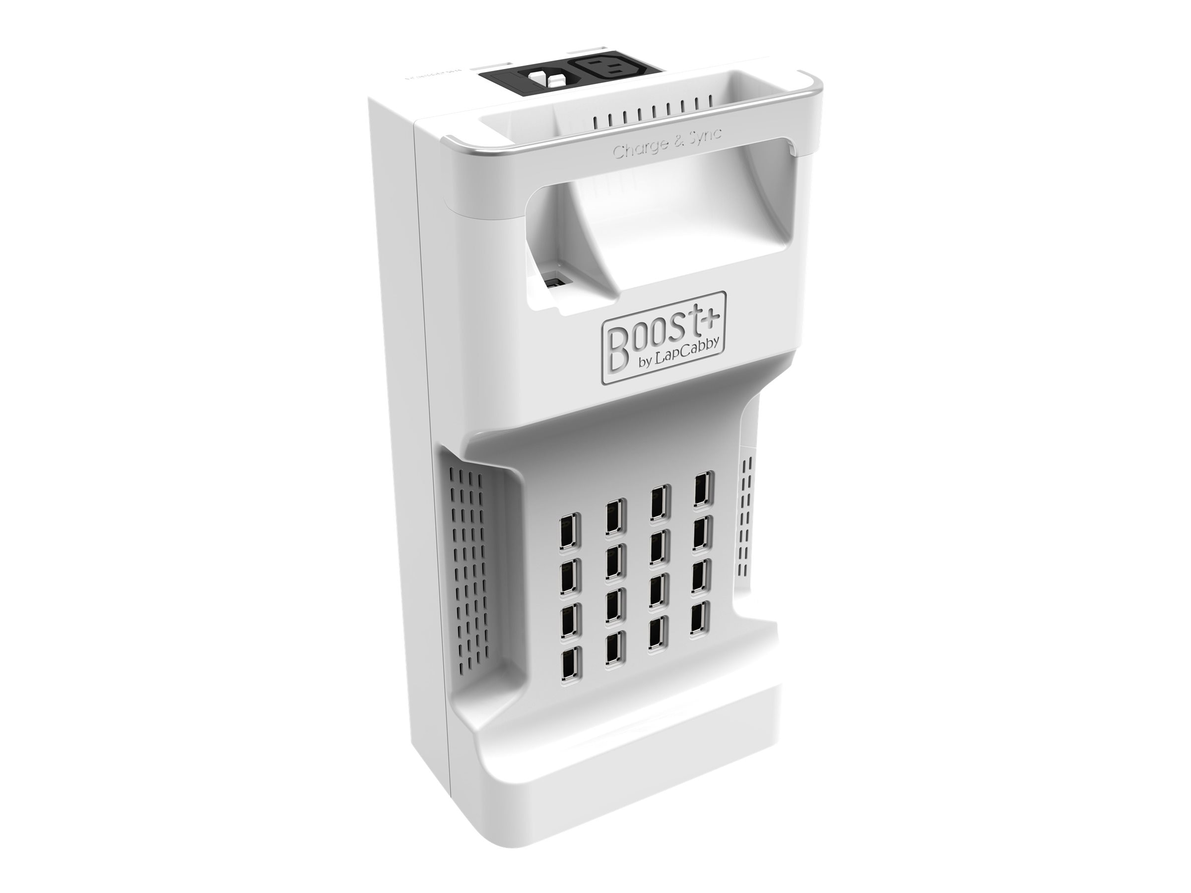 LapCabby Boost 16 Charge and Sync Station, White, BOO16CHSYNC/USA