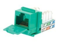 C2G Cat5e 90-Degree Keystone Jack, Green, 35207, 9513865, Cable Accessories