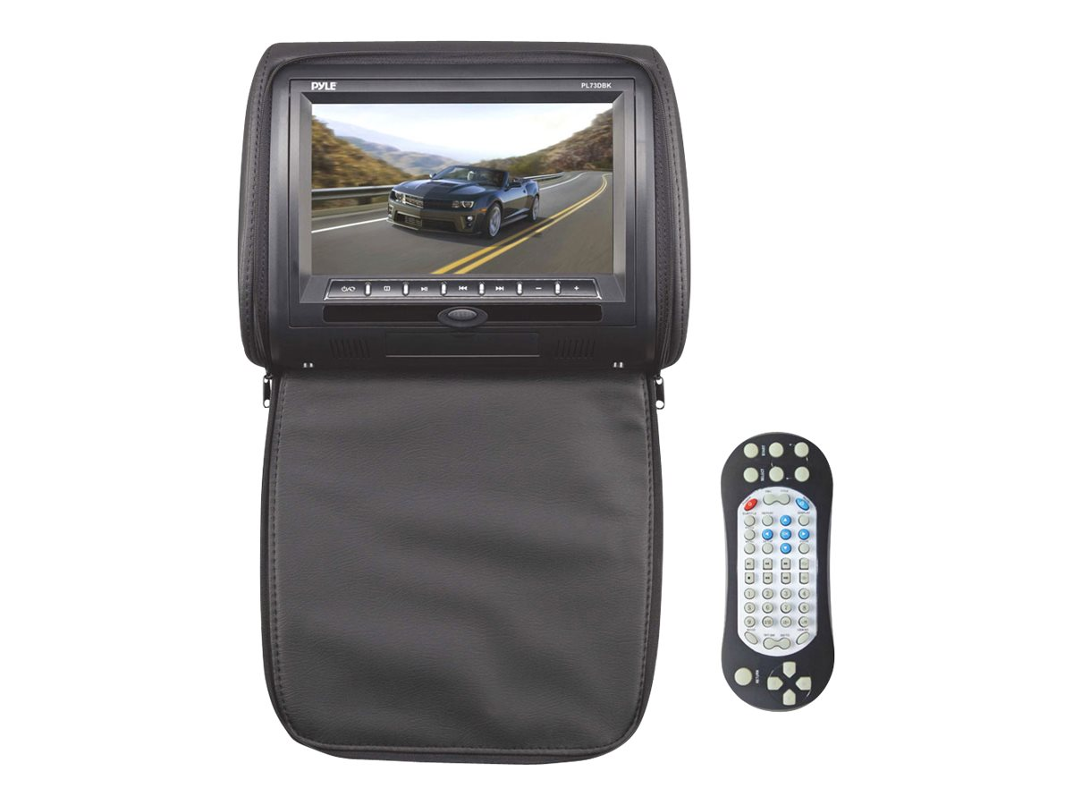 Pyle 7 Hi-Res Headrest Video Display Monitor Built-in DVD, PL73DBK