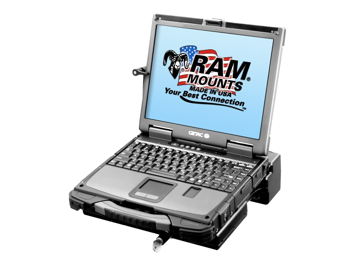 Ram Mounts Composite Tough-Dock Powered Docking Station with Port Replication for GETAC B300, RAM-234-GET2P, 31024582, Mounting Hardware - Miscellaneous