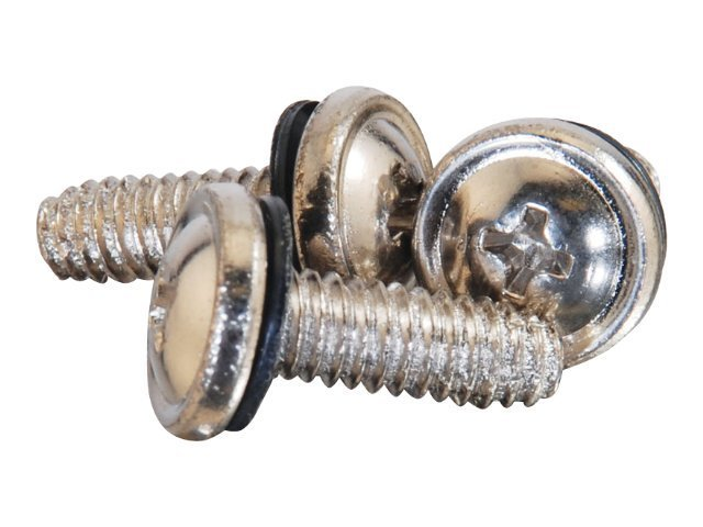C2G APW Cup-Head Screws, Nickle-Plated, 20-pack, 17667, 8156034, Premise Wiring Equipment