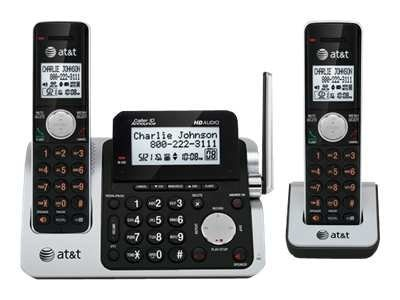 AT&T 2-Handset Cordless Answering System with Caller ID Call Waiting, CL83201, 12555880, Telephones - Consumer