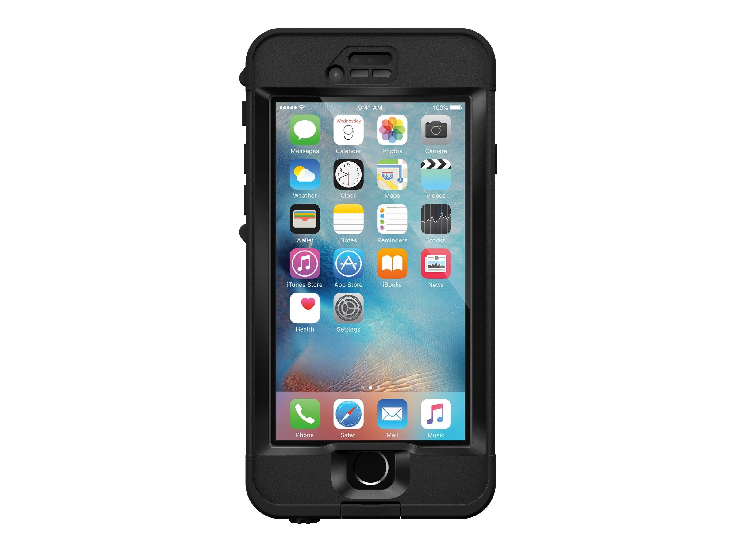 Lifeproof nuud for iPhone 6S, Black, 77-52569, 31233270, Carrying Cases - Phones/PDAs