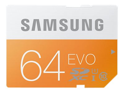 Samsung 64GB SDXC EVO Memory Card, Class 10, MB-SP64D/AM, 18743865, Memory - Flash