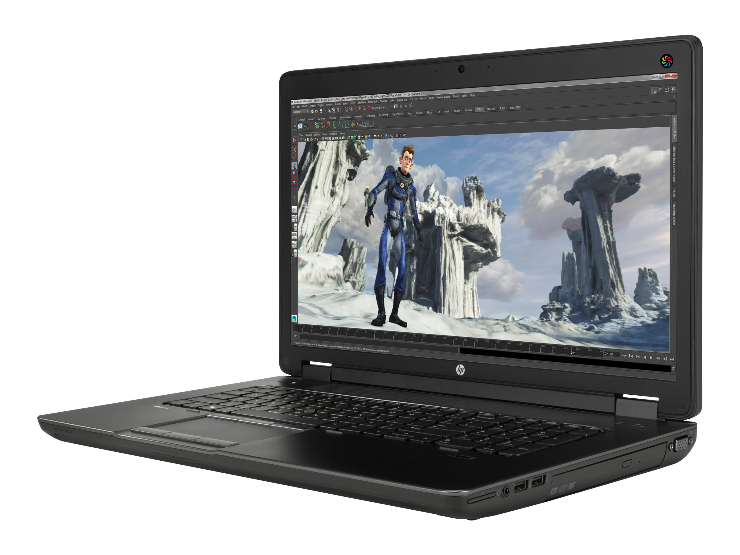 HP ZBook Core i7-4940MX 4GB 500GB 17.3