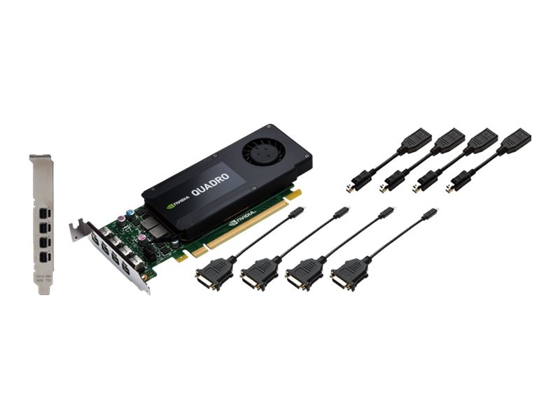 PNY nVidia Quadro K1200 Graphics Card DVI, 4GB GDDR5, VCQK1200DVI-PB, 18952034, Graphics/Video Accelerators