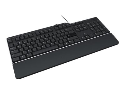 Dell Wired Business Multimedia Keyboard w  2-port USB Hub, Black, KB522-BK-US