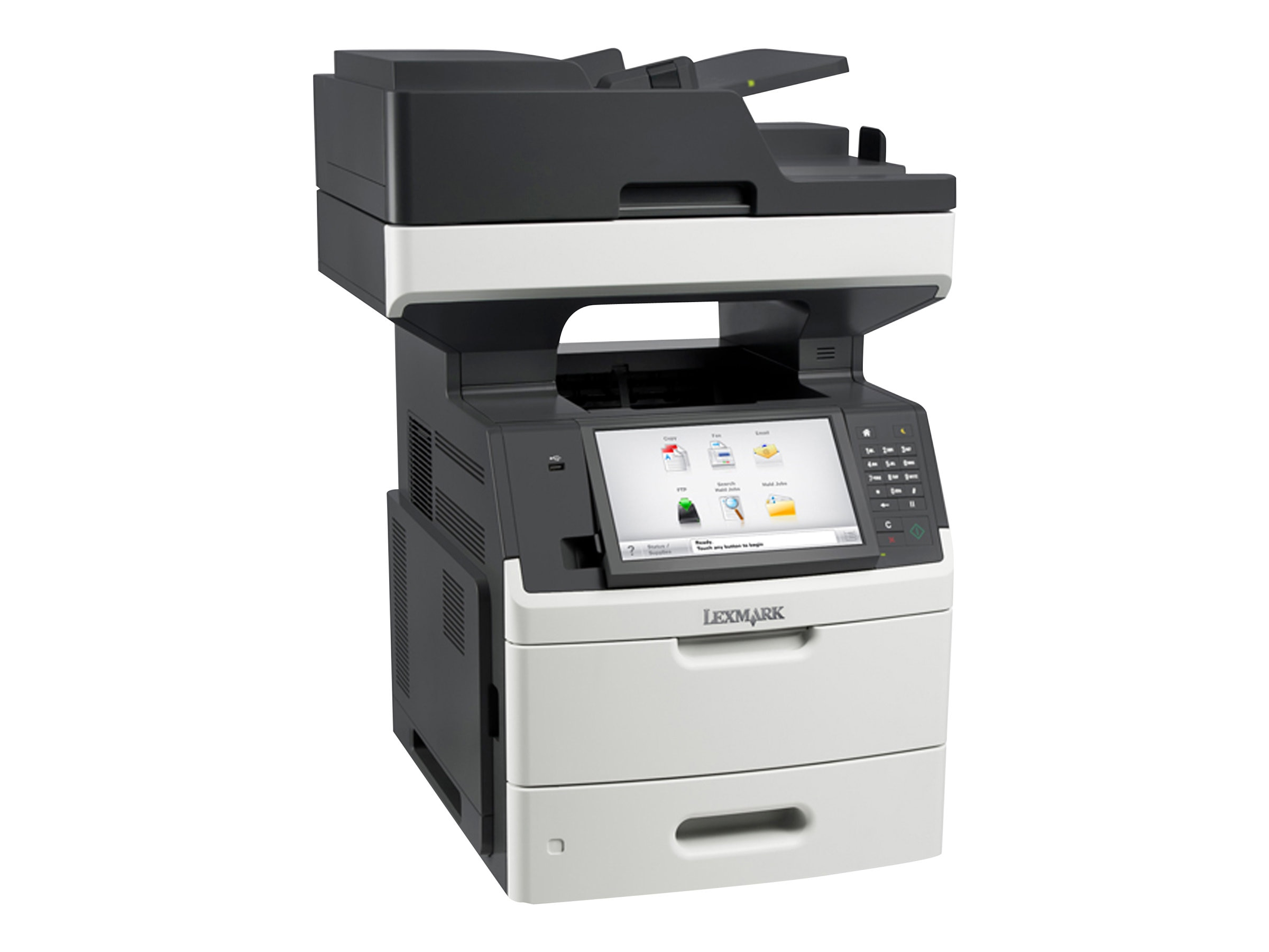 Lexmark MX711dhe Monochrome Laser Multifunction Printer, 24TT403