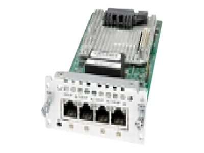 Cisco Fourth-Generation Multi-flex Trunk Voice Clear-channel Data T1 E1 Module - expansion module, NIM-4MFT-T1/E1, 24057141, Network Voice Router Modules