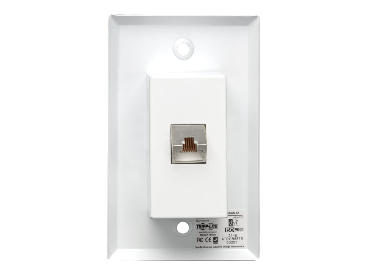 Tripp Lite DVI over Cat5 6 Extender, Extended-Range Video Wallplate Receiver, B140-1A0-WP-1
