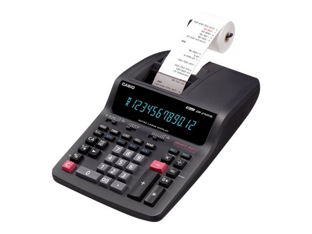 Casio Desktop Printing Calculator, DR270TM, 8176810, Calculators