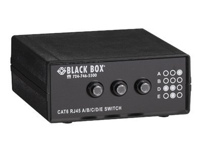 Black Box 4-to-1 CAT6 10GbE Manual Switch (ABCD)