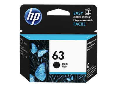 HP 63 Black Original Ink Cartridge, F6U62AN#140, 18816745, Ink Cartridges & Ink Refill Kits