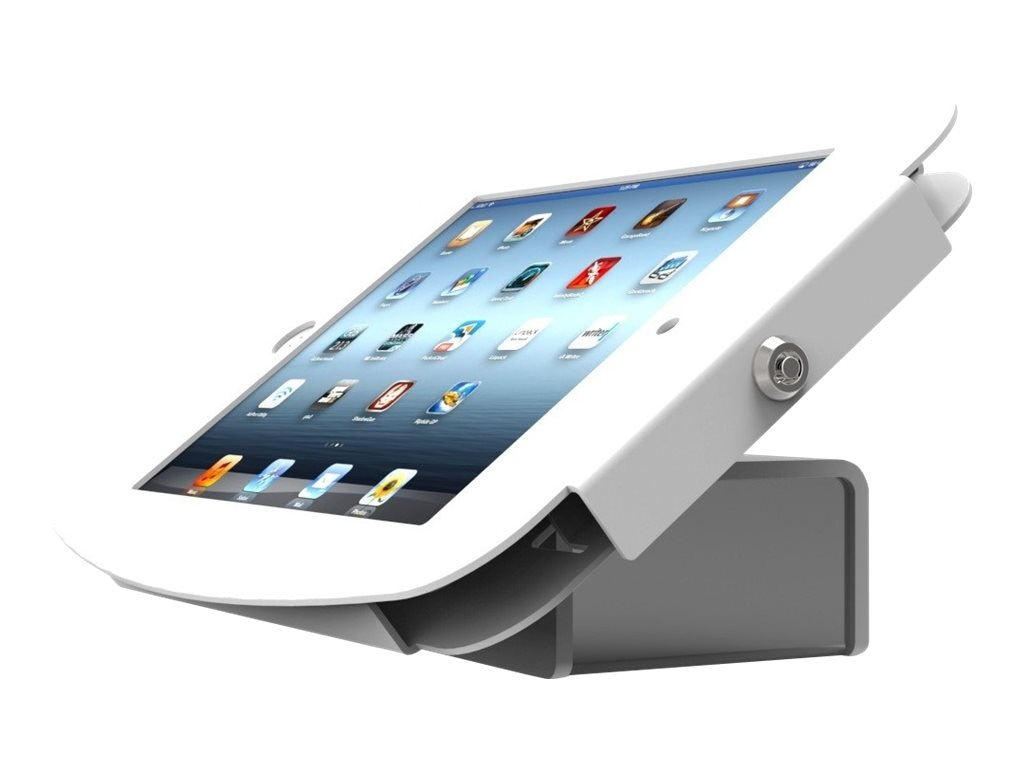 Compulocks Flip Kiosk for iPad Mini, White, 540W224SENW