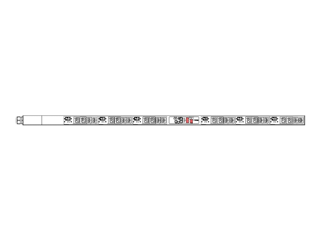 Raritan PDU 208V 48A 3-ph IEC60309 60A Input (12) C13 (12) C19 Outlets, PX2-1551V-E2V2, 18181268, Power Distribution Units