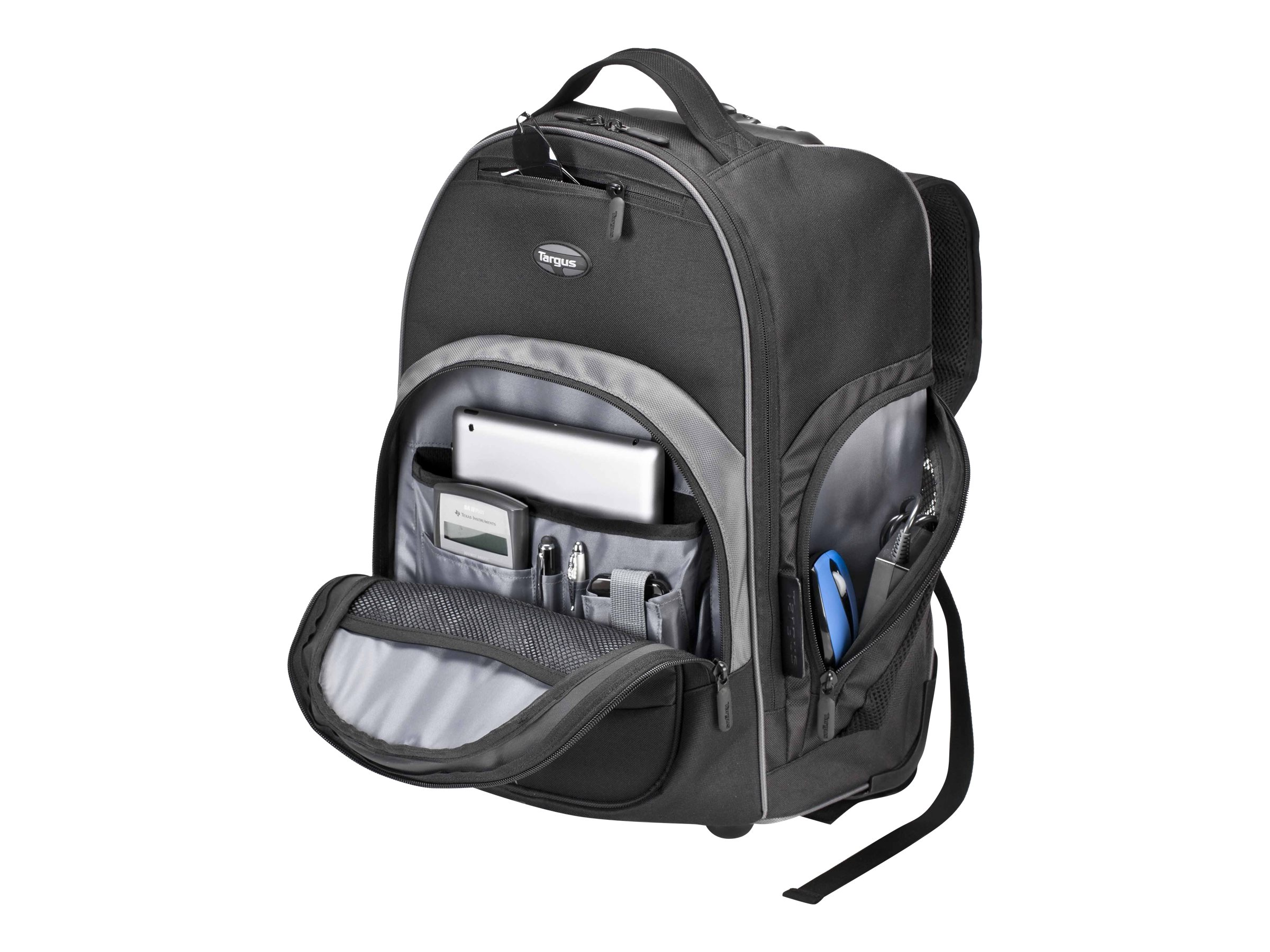 Targus Compact Rolling Backpack, Black