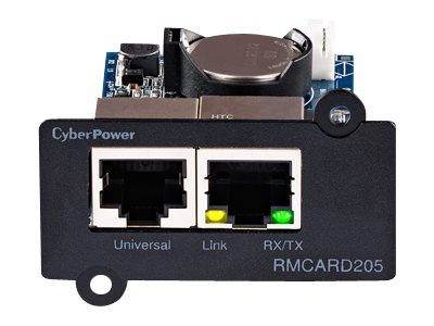 CyberPower UPS, ATS PDU Remote Management Card Web SNMP NMS RJ-45, TAA, RMCARD205TAA