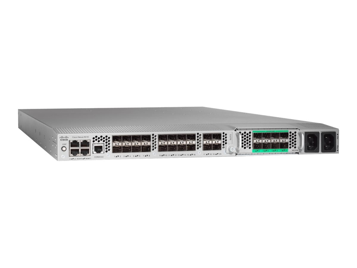 Cisco 20-Port Nexus 5000 Chassis with 2 Fan Modules, 1U, N5K-C5010P-BF, 9302259, Fibre Channel & SAN Switches