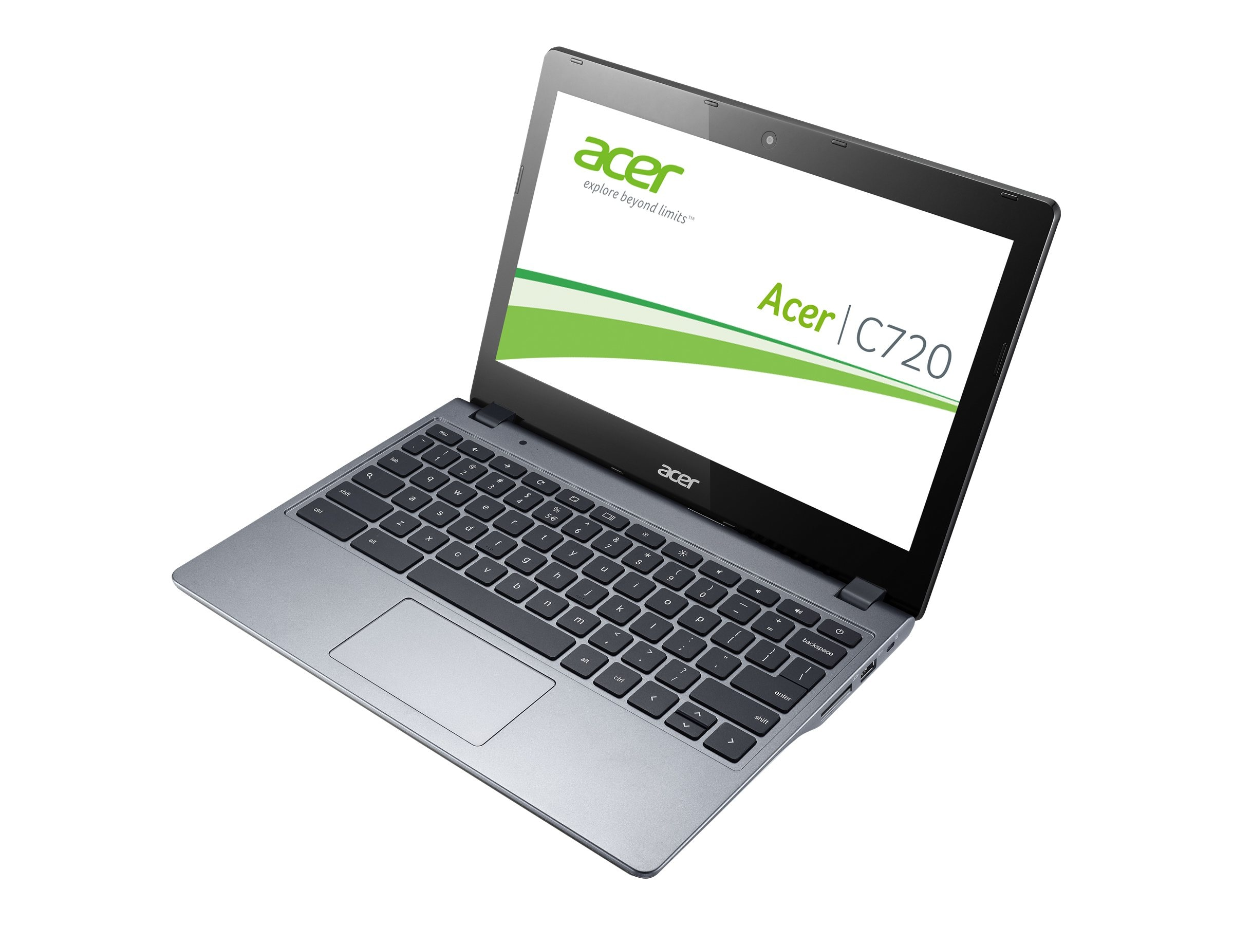 Scratch & Dent Acer Chromebook C720-2844 Celeron 2955U 1.4GHz 4GB 16GB SSD abgn BT WC 3C 11.6 HD ChromeOS, NX.SHEAA.004, 18219641, Notebooks